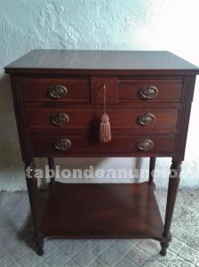 Mueble auxiliar antiguo, mueble cubertero, mueble joyero,