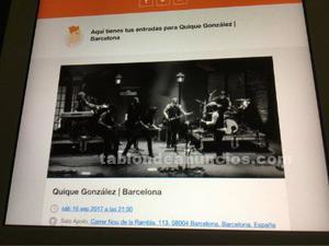 Entradas quique gonzález barcelona 16-sep-17