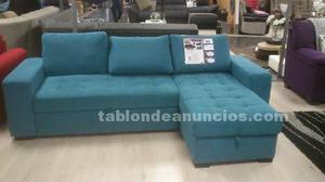 Sofa cama con chaise longue y arcon