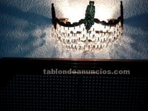 2 apliques de pared de cristal de strass para dormitorio o