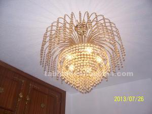 Vendo lampara de cristal de strras 5 luces