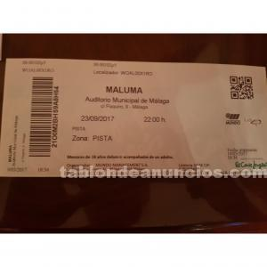 Entrada concierto maluma málaga