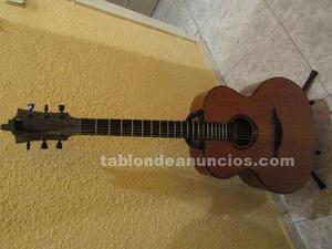 Guitarra acústica lag tramontane jumbo cedro sólida