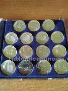 15 monedas en plata de ley del barça