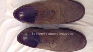 Zapatos caballero ante y piel