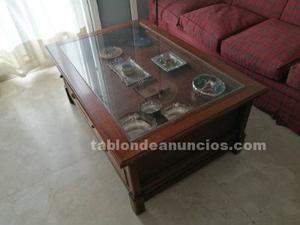 Mesa baja de salón de madera maciza