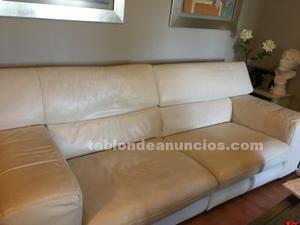 Vendo sofa de piel de 3 plazas