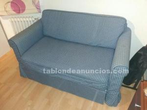 Sofá cama 2 plazas ikea modelo hagalund azul