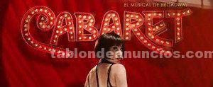 Vendo entradas cabaret el musical-29 septiembre-barcelona