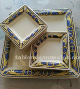 Conjunto cerámica tiffany boutique