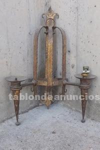 Lámpara antigua dorada