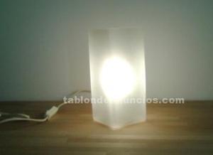 Lámpara mesita cristal templado