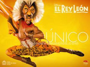 2 entradas. Rey león. Jueves