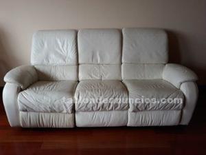 Vendo sofa de 3 plazas con asientos laterales reclinables