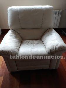 Venta de sillon + sofa de 3 plazas