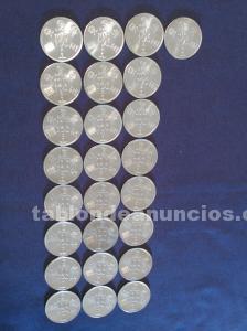 25 monedas 100 pesetas españa