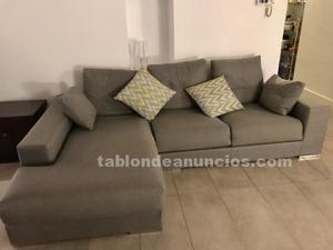 Sofa con chaise longue casi nuevo