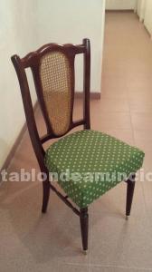 6 sillas de salón tapizadas