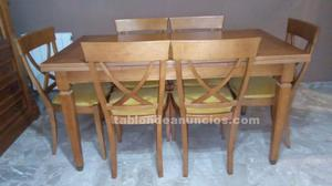 Mesa + 6 silla.
