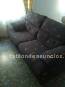 Sofá azul de 3 plazas
