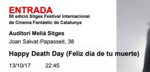 Venta de entradas para festival de sitges