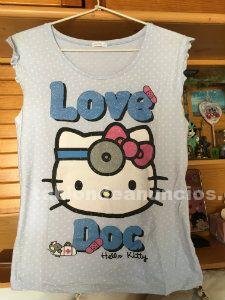 Camiseta algodon mujer talla l hello kitty