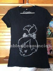 Camiseta de mujer talla l estampado pebbles