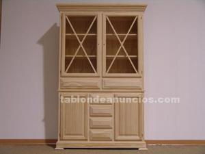 Mueble alto con 4 puertas y 6 cajones sin pintar