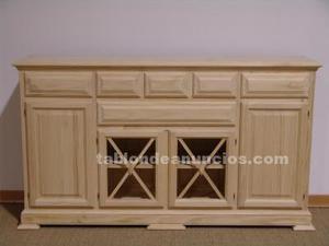 Mueble aparador con 4 puertas y 6 cajones sin pintar