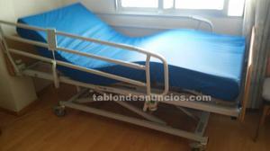 Cama hospital articulada eléctrica con colchón anti-escara