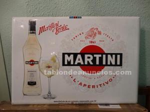 Cartel de chapa publicidad martini