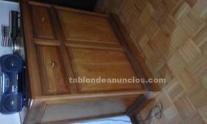 Mueble cama en madera de pino con colchon