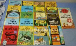 Colección de comics de las aventuras de tintín