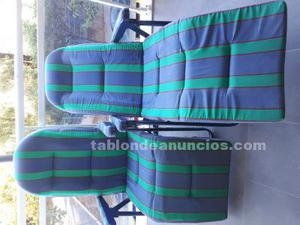 2 sillas tumbona relax 5 posiciones