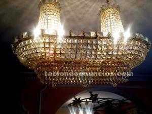 Liquidación, lampara de cristal de strass