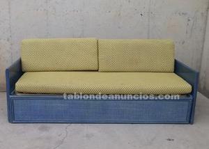 Sofá cama azul 200cm