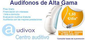 Audifonos gama alta desde 1,50 €/día