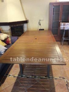 Muebles de jardín (mesa teka + 4 sillones)