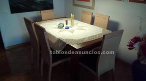 6 sillas de comedor de madera