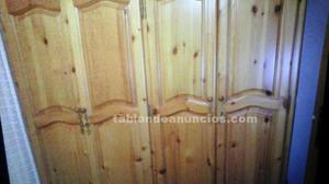 Habitación matrimonio de pino macizo