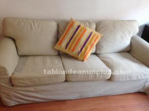 Sofa 3 plazas, ikea color beig.ocasion.