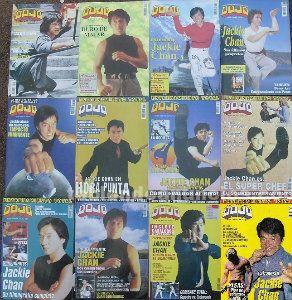 Jackie chan - 12 revistas de artes marciales ''dojo'