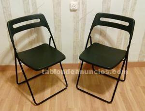 Lote de sillas plegables negras