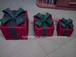 Vendo set de 3 cajas de regalos con iluminación