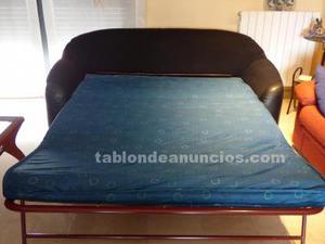 Sofa cama de piel autentica