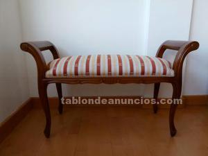 Banco madera tapizado