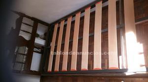 2 camas de madera 90 cm