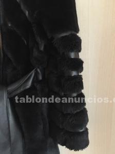 Abrigo armani jeans de pelo y polipiel