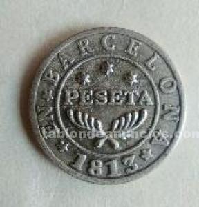 Moneda 1 pts  barcelona.
