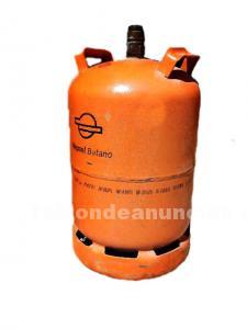 Una bombona de gas butano llena.